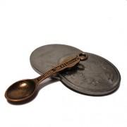 Ложка-загребушка для кошелька медная