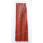 Свеча восковая натуральная оранжевая тонкая 25 см набор