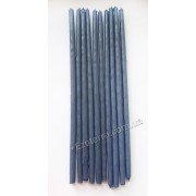 Свеча восковая натуральная синяя тонкая 25 см набор