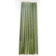 Свеча восковая натуральная зеленая тонкая 25 см набор 10 шт