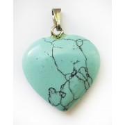 Кулон Сердечко бирюза искусственный камень
