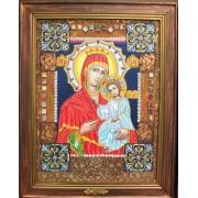 Икона Богородицы Старое Золото — Лесик Волошко. Ручная работа
